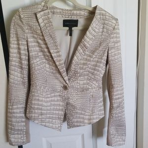 Sneak print fitted jacket